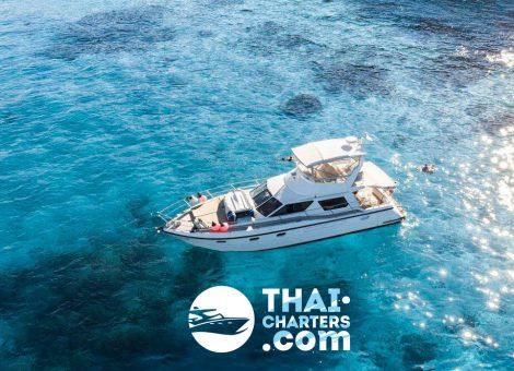 Очень вместительная моторная яхта «SEAHAWK»  отлично подходит для морских прогулок и снорклинга.