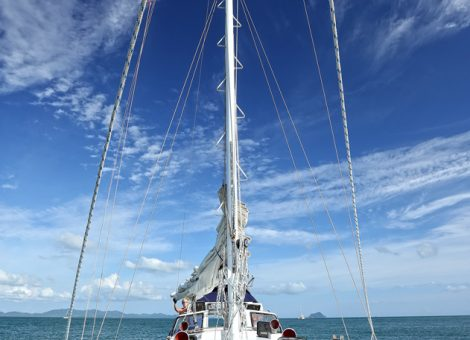 Modern cruise sailing yacht - it is like a house or apartment on the water, where there is still enough for a comfortable stay.