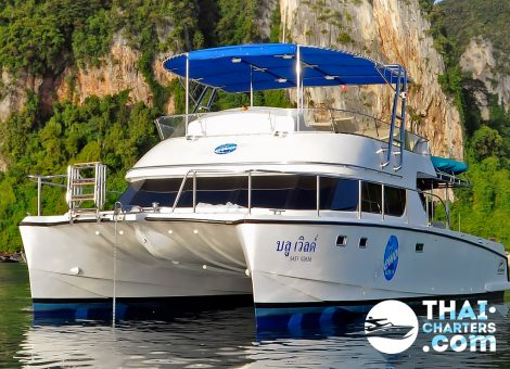 Blue World catamaran offers an ultramodern hull specially designed for the marine environment. It is not affected by ship motions under 3 meters.
