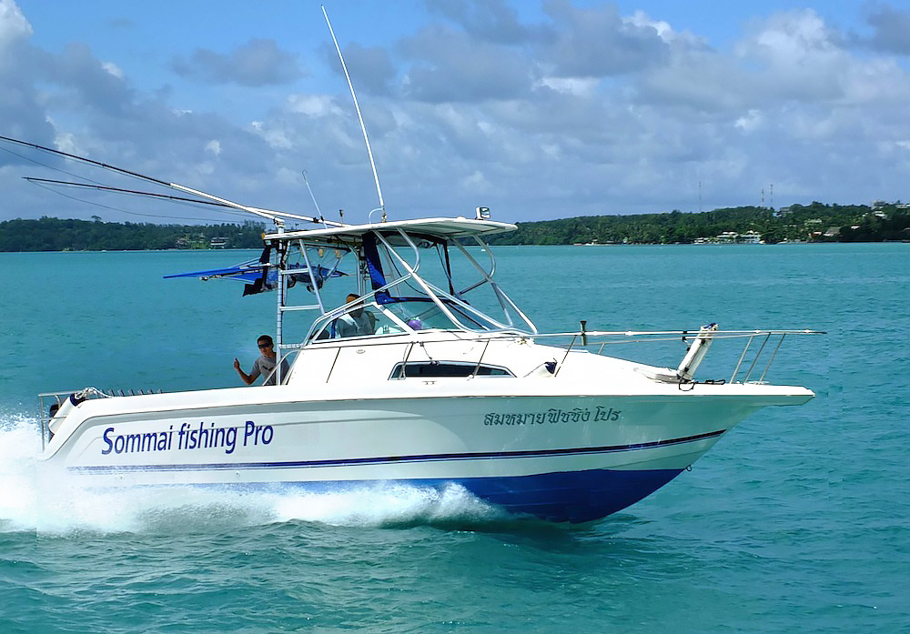 Fishing speedboat for rent in phuket for day sommai for Fishing boat rentals