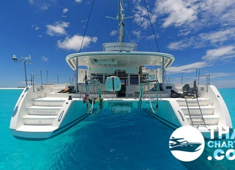 This is a modern hi-end 45ft catamaran, equipped with all necessary for a comfortable leisure.