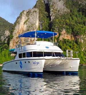 «Blue World» motor catamaran