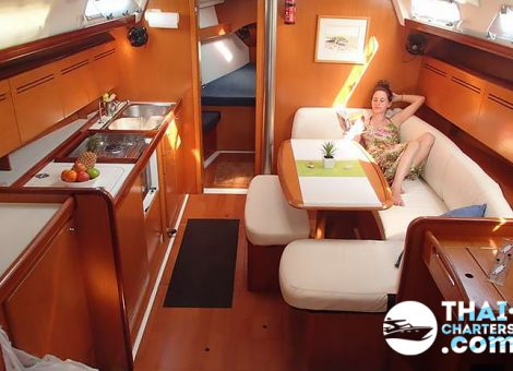 This is an excellent low-budget option of a sailing yacht. This boat will make you enjoy every minute of your trip.