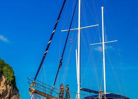 This classic 30 meters wooden Ketch was designed and equipped for fabulous sailing events.