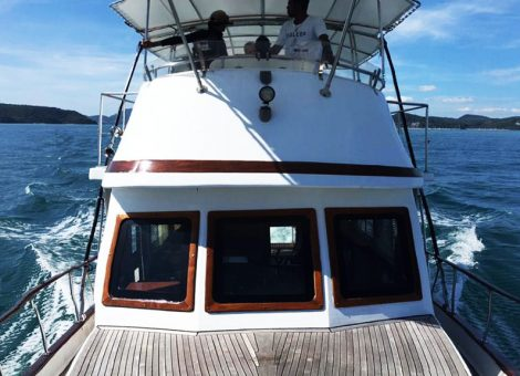 Pleasure fishing boat «Nana». An excellent choice for a big company. For Rent in Phuket.